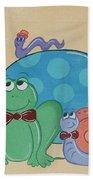 A Turtles Friends Beach Towel