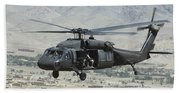 A Uh-60 Blackhawk Helicopter Beach Towel