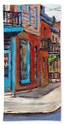 A Vendre Petits Formats L'art De Montreal Originals For Sale Wilensky's Diner Best Montreal Scenes Beach Towel