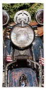 A Very Old Indian Harley-davidson Beach Towel by James BO  Insogna