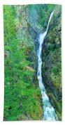 A Very Tall Waterfall Beach Towel