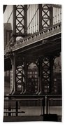 A View From The Bridge - Manhattan Bridge New York Beach Towel