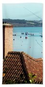 A View Of Mylor Harbour Beach Towel