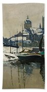 A View Of Neuss In Winter Beach Towel