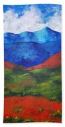 A View Of The Blue Mountains Of The Adirondacks Beach Towel