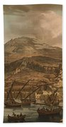 A View Of The Rock Of Gibraltar From The Spanish Lines 1782 Beach Towel