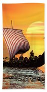 The Vikings Are Coming Beach Towel