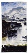 A Waterfall Beach Towel