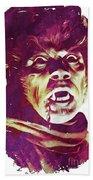 A Werewolf In London Beach Towel