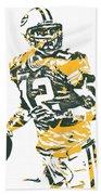 Aaron Rodgers Green Bay Packers Pixel Art 15 Beach Sheet