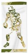 Aaron Rodgers Green Bay Packers Water Color Art 1 Beach Towel