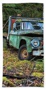 Abandoned Alaskan Logging Truck Beach Towel