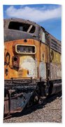 Abandoned Bessemer And Lake Erie Trains Schellville California Beach Towel