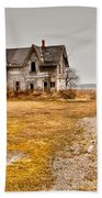 Abandoned Farm House Beach Towel by Cale Best