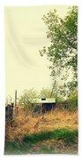 Abandoned Farm Yard Beach Towel