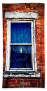 Abandoned House Window With Vines Beach Towel