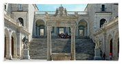 Abbey Of Montecassino Courtyard Beach Towel