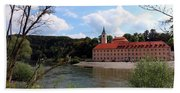 Abbey Weltenburg And Danube River Beach Towel