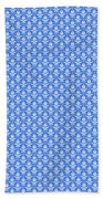 Abby Damask In White Pattern 18-p0113 Beach Towel