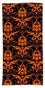 Abby Damask With A Black Background 03-p0113 Beach Towel