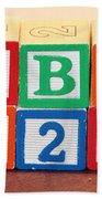 Abc 123 Beach Towel