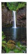 Abiqua Falls In Summer Beach Towel