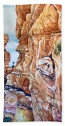 Above Canyonlands Campground Beach Towel