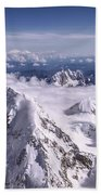Above Denali Beach Towel by Chad Dutson
