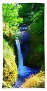 Above Onionta Falls Beach Towel