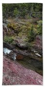 Above Redrock Falls Beach Towel