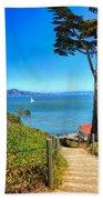 Above San Francisco Bay Beach Towel