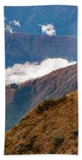 Above The Clouds In The Andes Beach Towel