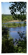 Above The Trees Beach Towel
