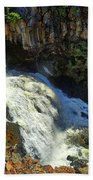 Above Undine Falls Beach Towel