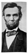 Abraham Lincoln -  Portrait Beach Towel