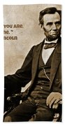 Abraham Lincoln Quote Five Beach Towel