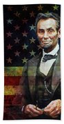 Abraham Lincoln The President  Beach Towel