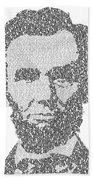 Abraham Lincoln Typography Beach Towel