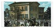 Abraham Lincoln's Return Home Beach Sheet