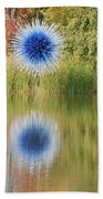 Abstact Sphere Over Water Beach Towel