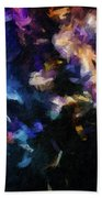 Abstract 134 Digital Oil Painting On Canvas Full Of Texture And Brig Beach Towel