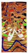 Abstract #1859drawpc Beach Towel