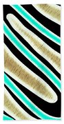Abstract 35 Golden Tan Green Turquoise Beach Towel