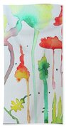 Blob Flowers Beach Towel