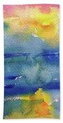 Floating In Blue Beach Towel