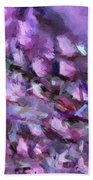 Abstract 91 Digital Oil Painting On Canvas Full Of Texture And Brig Beach Towel