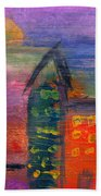 Abstract - Acrylic - Lost In The City Beach Towel