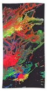 Abstract Andromeda Beach Towel