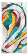 Abstract Art 105 Beach Sheet
