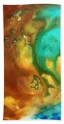 Abstract Art Colorful Turquoise Rust River Of Rust I By Madart  Beach Towel